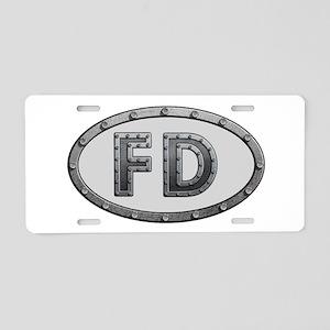 FD Metal Aluminum License Plate