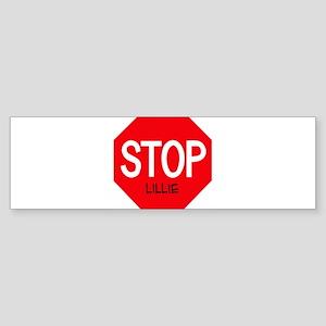 Stop Lillie Bumper Sticker