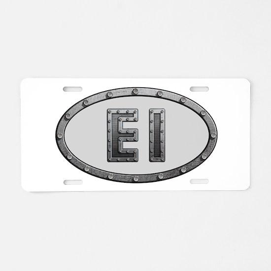 EI Metal Aluminum License Plate