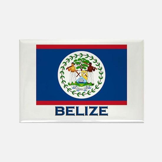 Belize Flag Merchandise Rectangle Magnet