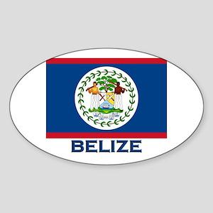 Belize Flag Merchandise Oval Sticker