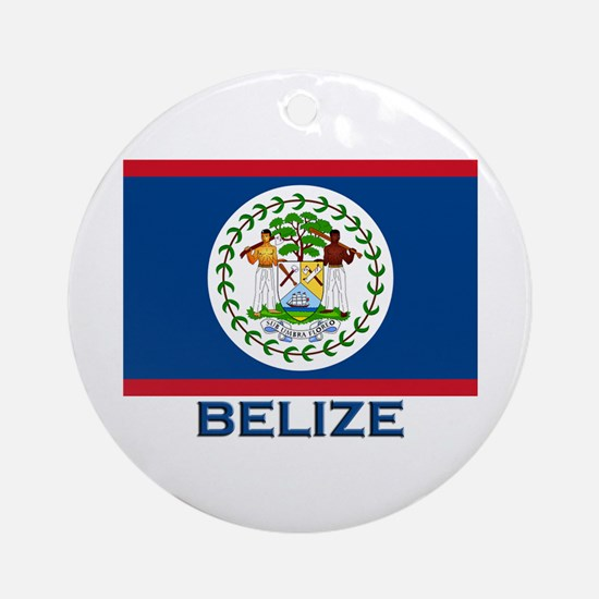 Belize Flag Merchandise Ornament (Round)