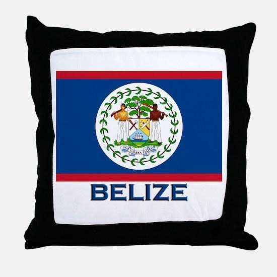 Belize Flag Merchandise Throw Pillow