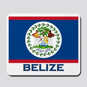 Belize Flag Merchandise Mousepad