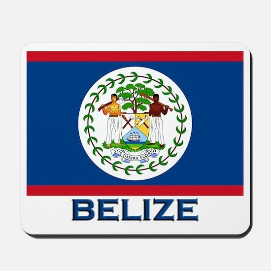 Belize Flag Merchandise Mousepad