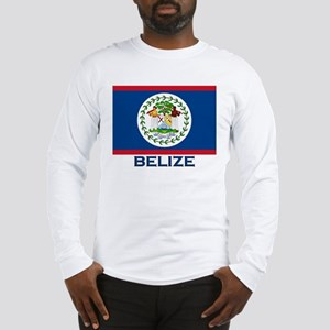 Belize Flag Merchandise Long Sleeve T-Shirt