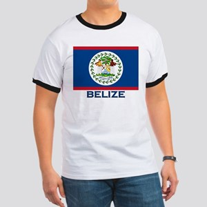 Belize Flag Merchandise Ringer T
