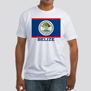 Belize Flag Merchandise Fitted T-Shirt