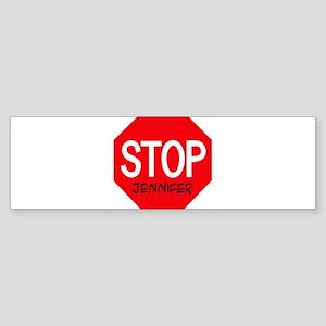 Stop Jennifer Bumper Sticker