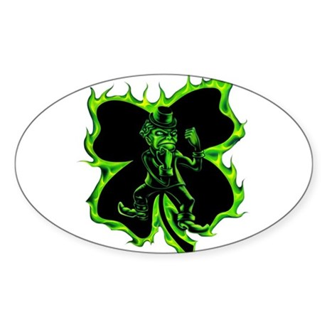 Fighting Leprechaun Irish Clover Airbrushed design