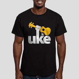 Uke Fist Men's Fitted T-Shirt (dark)