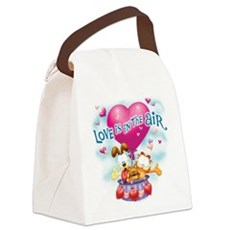 Love is in the Air Canvas Lunch Bag
