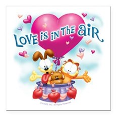 Love is in the Air Square Car Magnet 3