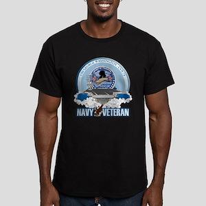 Navy Veteran CVN-73 Men's Fitted T-Shirt (dark)