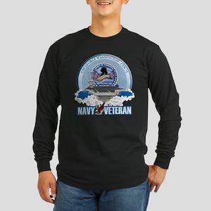 Navy Veteran CVN-73 Long Sleeve Dark T-Shirt