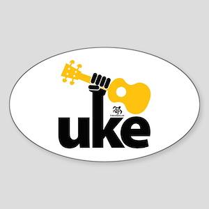 Uke Fist Sticker (Oval)