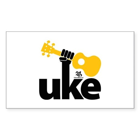 Uke Fist Sticker (Rectangle)
