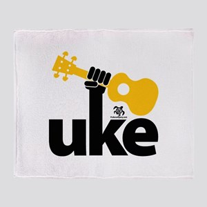 Uke Fist Throw Blanket