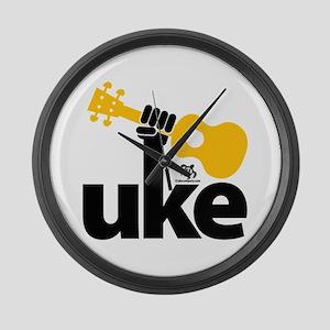 Uke Fist Large Wall Clock