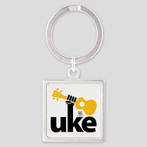 Uke Fist Square Keychain