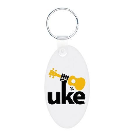 Uke Fist Aluminum Oval Keychain