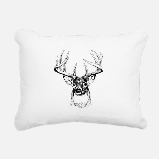 Big Buck Rectangular Canvas Pillow