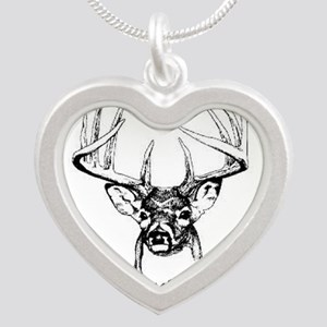 Big Buck Silver Heart Necklace