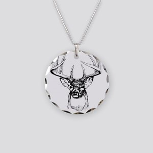 Big Buck Necklace Circle Charm