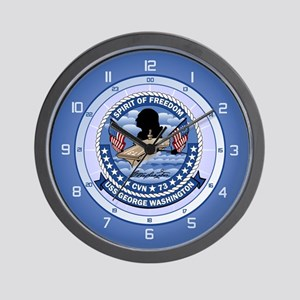 USS Washington CVN-73 Wall Clock