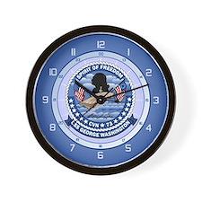 USS Washington CVN-73 Wall Clock