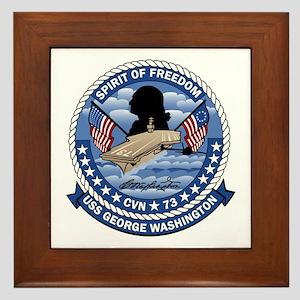 Patch USS Washington Framed Tile