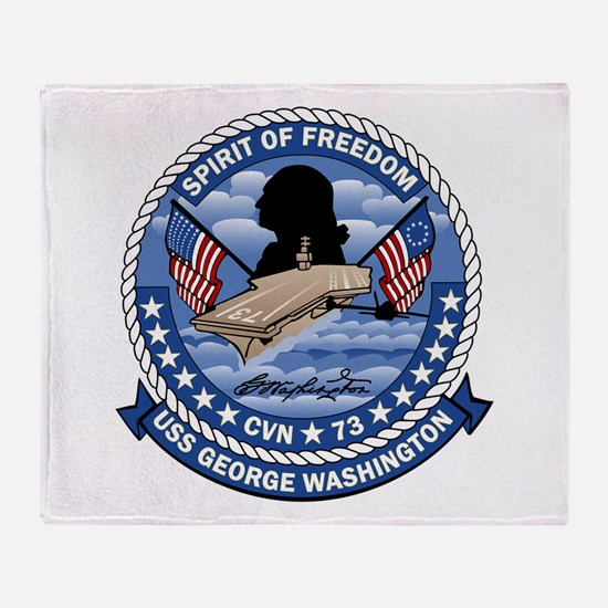 Patch USS Washington Throw Blanket