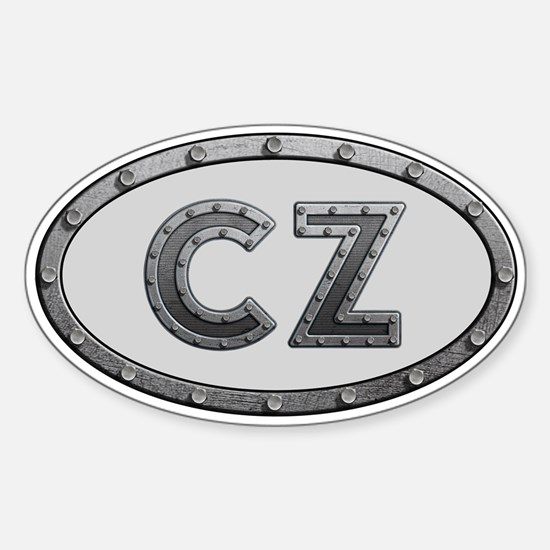 CZ Metal Sticker (Oval)