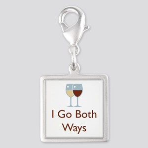 I go both ways Silver Square Charm