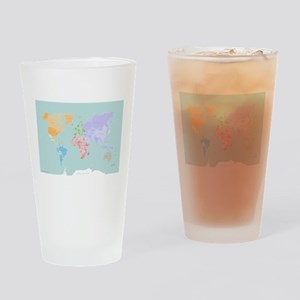 World Map - Modern Design Drinking Glass