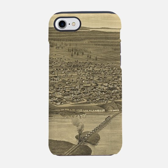 Vintage Pictorial Map of Tacom iPhone 7 Tough Case