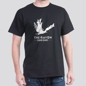Guys Dark Loose Tee - White Raven