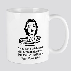 Defenseless Lady Funny T-Shirt Mug