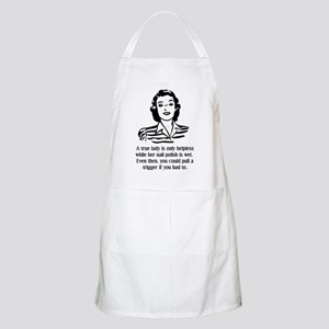 Defenseless Lady Funny T-Shirt Apron