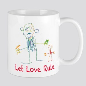 Drawing of Adult and Child Let Love Rule Mug
