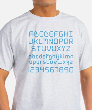 Digital Font T-Shirt