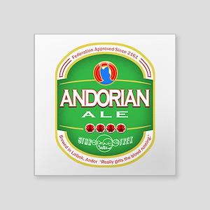 """Andorian Ale Square Sticker 3"""" x 3"""""""