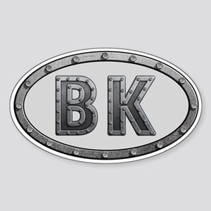 BK Metal Sticker (Oval)