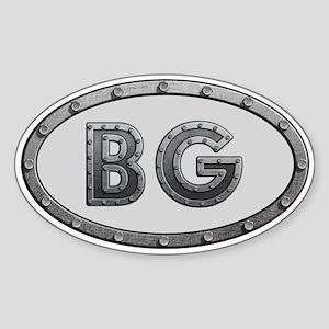 BG Metal Sticker (Oval)