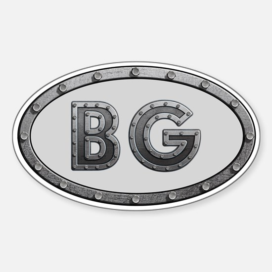 BG Metal Sticker (Oval)