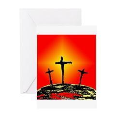 Three Crosses Greeting Card