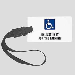 Handicap Parking Large Luggage Tag