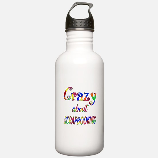 Crazy About Scrapbooking Water Bottle