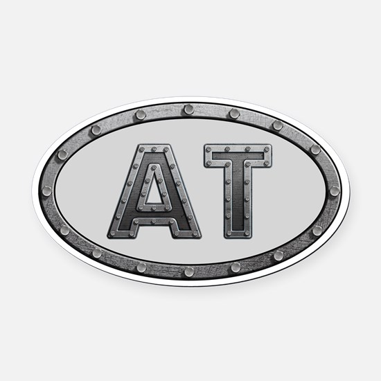 AT Metal Oval Car Magnet