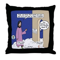 World Issues Throw Pillow